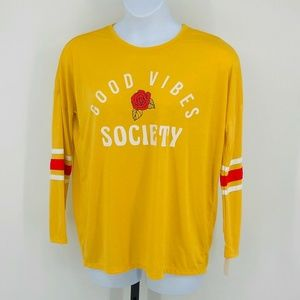 Mighty Fine GOOD VIBES SOCIETY Graphic Tee XL